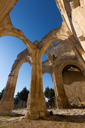 palencia province: Abandoned of the  Church of Santa Eulalia. Palenzuela.  Province of Palencia