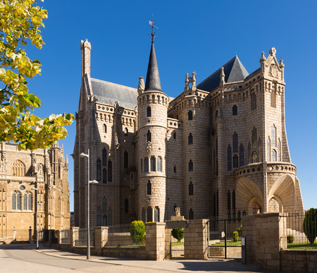 episcopal: Episcopal Palace of Astorga, was built 1889-1815.  Castile and Leon, Spain