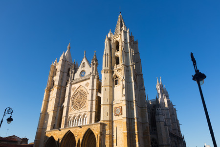 leon: Cathedral of Leon.  Castile and Leon, Spain