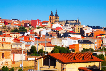 castile and leon: General view of spanish town in summer. Astorga, Castile and Leon, Spain