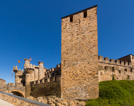 castile and leon: Templar Castle, built in the 12th century. Ponferrada, Castile and Leon, Spain