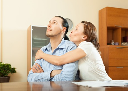covetous: couple having conflict about family budget