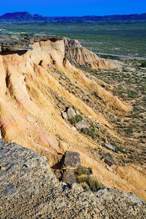 navarra: desert landscape of bardenas reales natural park in  Navarra, Spain Stock Photo
