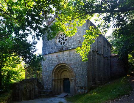 church ruins: abandoned church at  monastery of Santa Cristina de Ribas de Sil. Galicia