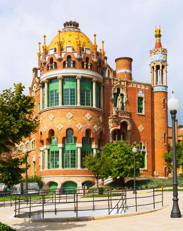 modernisme: BARCELONA, SPAIN - SEPTEMBER 13, 2014: Hospital of   Saint Paul in Barcelona. Catalonia, Spain Editorial