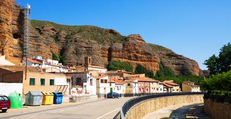 spanish village: spanish village in summer. Los Fayos, Zaragoza Editorial