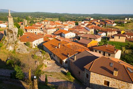 castile leon: General view of  spanish village.  Hacinas, Castile and Leon ,   Spain