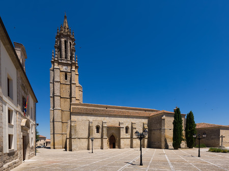 palencia province: Church of San Miguel in Ampudia. Province of Palencia, Spain