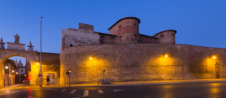 castile and leon: City wall of Leon in evening. Castile and Leon, Spain Editorial
