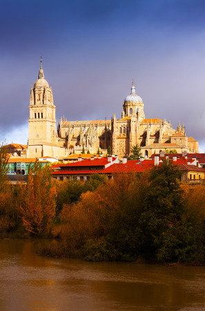 castile leon: Salamanca Cathedral from Tormes River. Castile and Leon, Spain