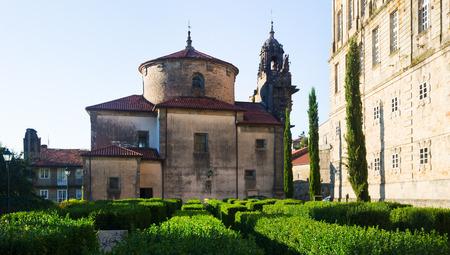 compostela: Church of San Fructuoso in day time. Santiago de Compostela,   Spain