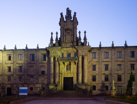 martino: Monastery of San Martino Pinario  in evening  time. Santiago de Compostela,  Galicia