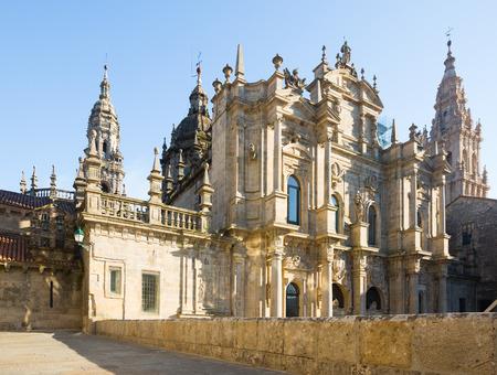 compostela: Santiago de Compostela Cathedral in day time.  Galicia, Spain