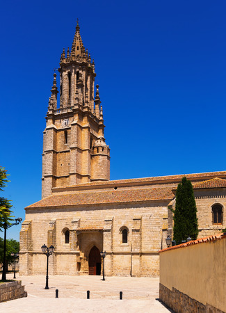 palencia province: Collegiate Church of San Miguel in Ampudia. Province of Palencia, Castile and Leon, Spain