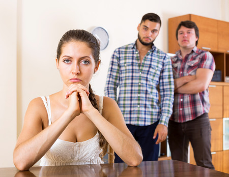 polygamy: Two male quarreling over a girl at home