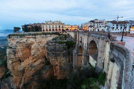 nuevo: Bridge called Puente Nuevo   in early morning. Ronda, Spain
