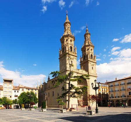 rioja: Co-Cathedral of Saint Maria de la Redonda in  Logrono.   Rioja