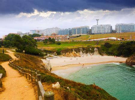 galicia: seafront in A Coruna. Galicia, Spain