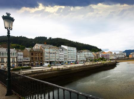 galicia: View of Viveiro with river. Galicia, Spain
