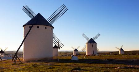mancha: windmills in  La Mancha, Spain