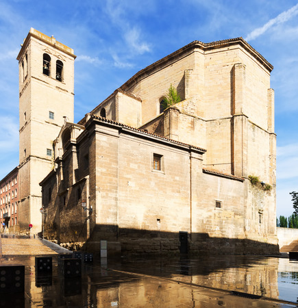 way of st  james: Day view of Church of Santiago el Real in Logrono. Rioja Stock Photo