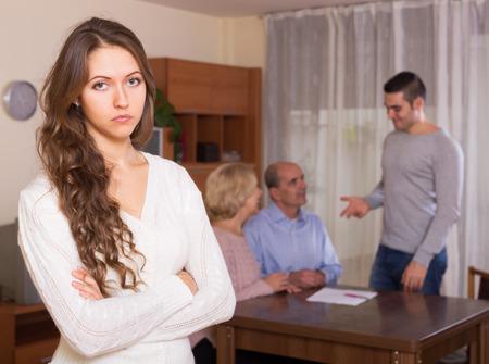 misunderstanding: Girl faced with misunderstanding family
