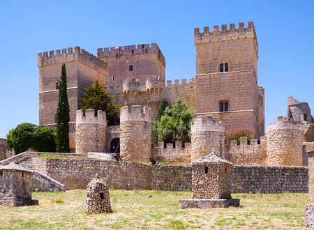 palencia province: View of Castle of  Ampudia.   Province of Palencia, Castile and Leon, Spain