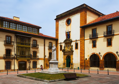 faculty: Day view of   University of Oviedo. The building of  Faculty of Philology Editorial