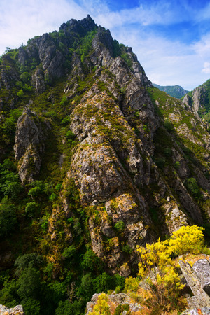 castile and leon: Rocky landscape in summer.  Castile and Leon, Spain