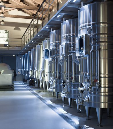 wineries: equipment of contemporary winemaker factory