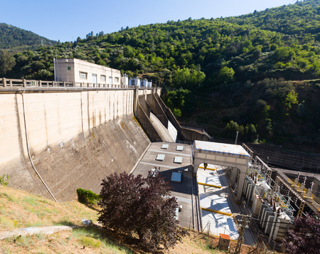 hydroelectric power station: hydro-electric power station on Bibei river.  Spain