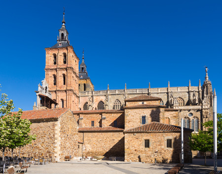 castile and leon: Cathedral of Astorga in summer day. Castile and Leon, Spain