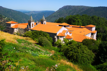 orense: General view of Monastery of San Esteban (Ribas de Sil). Galicia,  Spain Stock Photo