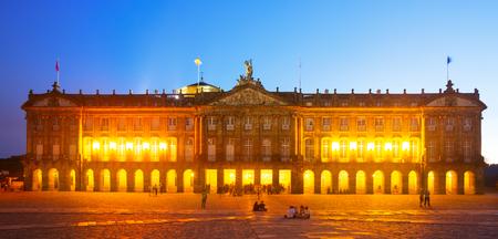 rajoy: Rajoy Palace (Palacio de Rajoy)  in night. Santiago de Compostela,  Galicia, Spain