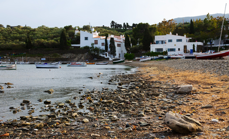 mediterranean home: CADAQUES, SPAIN - MAY 14, 2015: Home of Dali at mediterranean coast. Cadaques, Catalonia Editorial