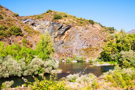 sil: Rocky landscape with river. Galicia,  Spain