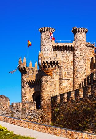 castile leon: Templar Castle in Ponferrada, Castile and Leon, Spain Stock Photo