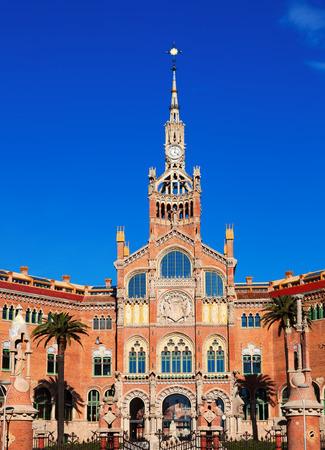 modernisme: Hospital de Sant Pau, built between 1901 and 1930 in Barcelona. Catalonia, Spain