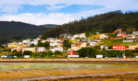dwelling: View of Viveiro with  river and dwelling  houses. Lugo, Galicia