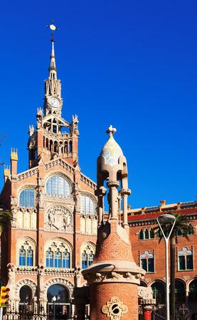 saint paul: Hospital of the Holy Cross and Saint Paul in winter. Barcelona