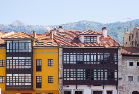 spanish homes: traditional  asturian   houses at  Llanes. Asturias