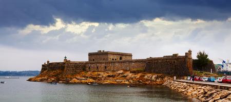 anton: View of San Anton Castle in  A Coruna. Galicia,  Spain