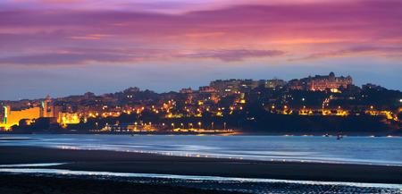 santander: Santander from the Bay   in evening.  Cantabria