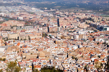andalusian: General view of  old andalusian city.  Jaen, Spain