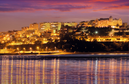 cantabria: View of  Santander in  evening.  Cantabria,   Spain