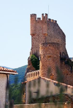 castile and leon: Frias castle (12th-15th century).  Province of Burgos, Castile and Leon, Spain