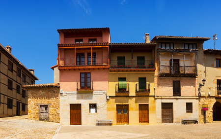olden day: typical picturesque houses in Frias. Burgos, Spain