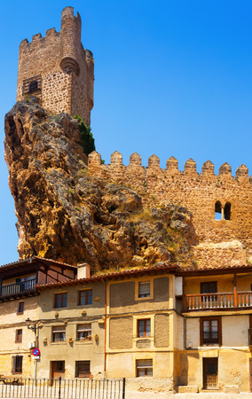 castile and leon: View of Frias castle (12th-15th century).  Province of Burgos, Castile and Leon, Spain