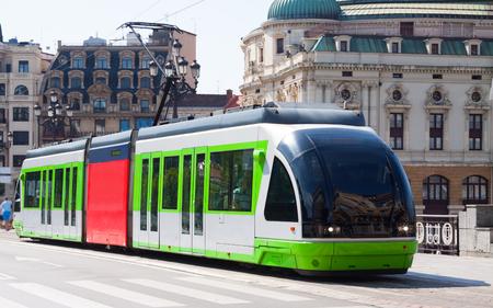 ordinary: Ordinary tramway in Bilbao. Spain