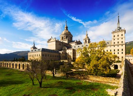 Royal Palace: Royal Palace in  autumn. El Escorial, Spain Editorial